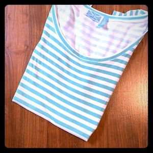 🍀Womens striped scoop neck tee